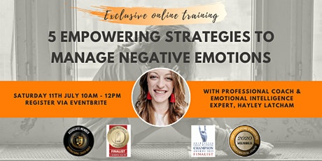 5 Empowering Strategies To Manage Negative Emotions & Improve Resilience tickets