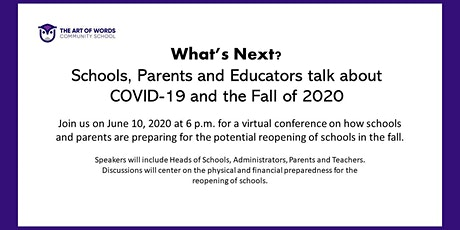 Schools, Parents and Educators talk about COVID-19 and fall of 2020 tickets