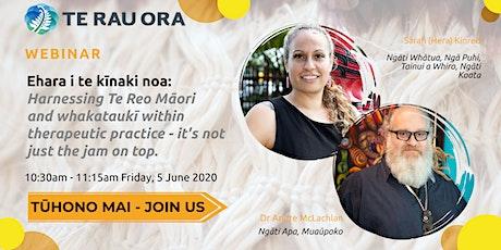 Ehara i te kīnaki noa: Harnessing Te Reo Māori and Whakataukī tickets