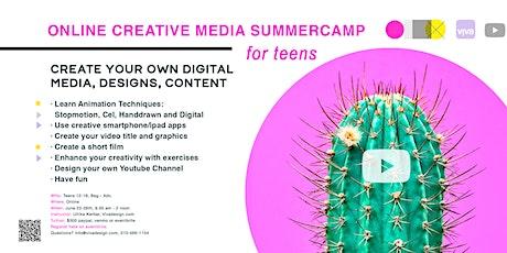 Creative New Media Summercamp for Teens - ONLINE tickets
