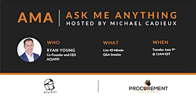 AMA – Ask Me Anything with Ryan Young of  ACLIVITI