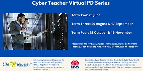 2020 Cyber Teacher Virtual Workshop Series - 25 June  tickets