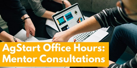 AgStart Office Hours - Mentor Consultations - August 4, 2020 tickets