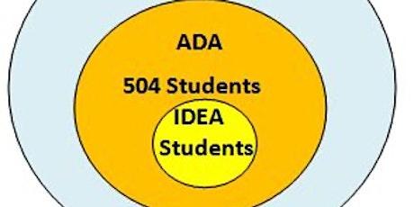IDEA / Sección 504: Las Leyes que Protegen Nuestros Hijos(as) entradas