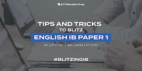 Free IB English Paper 1 Webinar tickets