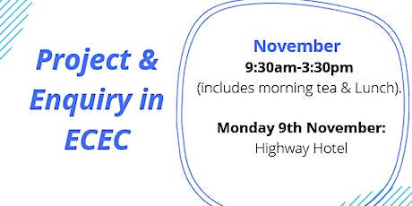 Projects & Inquiry in ECE  tickets