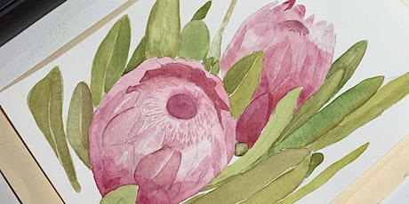 Introduction to Watercolour -Floral tickets