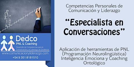 """Capacitación Continua  """"Especialista en Conversaciones""""  PNL + IE +Coaching entradas"""