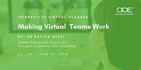 Virtual Class: Making Virtual Teams Work tickets