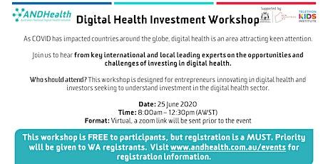 Digital Health Investment Workshop  tickets
