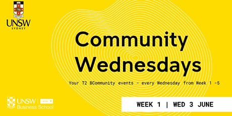Week 1 Community Wednesday Events tickets