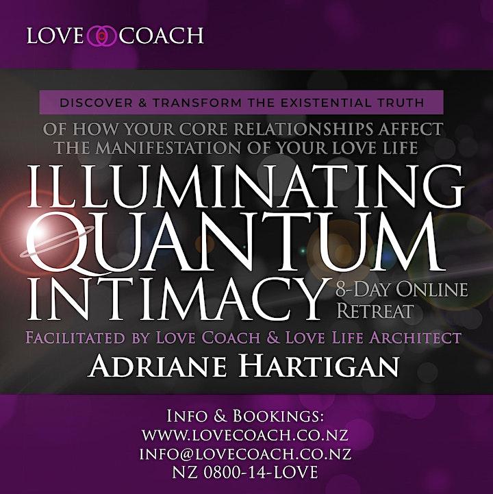 ILLUMINATING QUANTUM INTIMACY Online Retreat by LOVE COACH Adriane Hartigan image