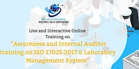 Webinar on Awareness and Internal Auditor training on ISO 17025:2017 tickets