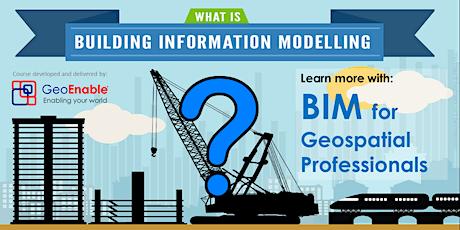 [FREE WEBINAR] BIM for Geospatial Professionals - Summary tickets