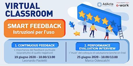 [Virtual Classroom] Smart feedback (giugno 2020) biglietti