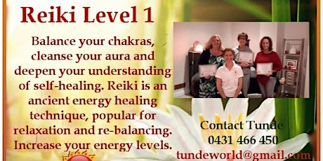 REIKI LEVEL 1 attunement & workshop. tickets