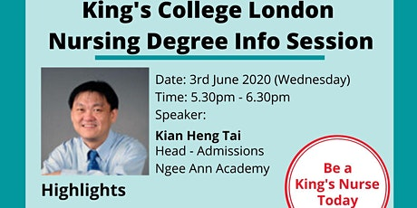 King's College London Nursing Degree Info Session tickets