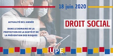 UP' Formation | Droit Social : Protection santé et prévention des risques billets