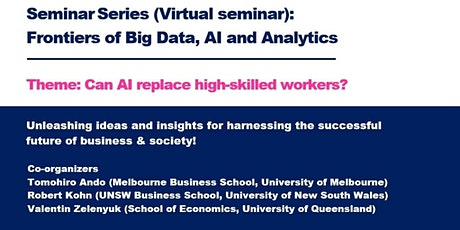 Seminar Series: Frontiers of Big Data, AI and Analytics tickets