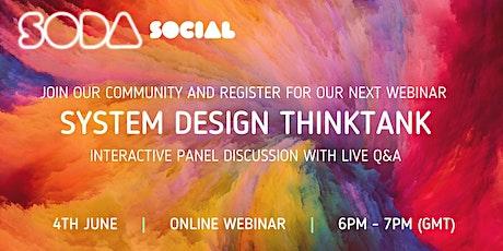 System Design ThinkTank Webinar #1 entradas