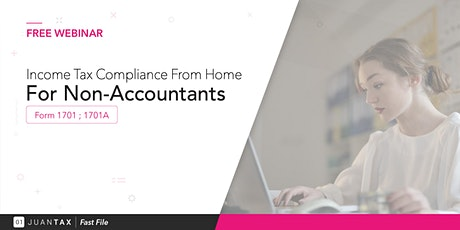 Income Tax Compliance From Home For Non-Accountants Form 1701 & 1701A tickets