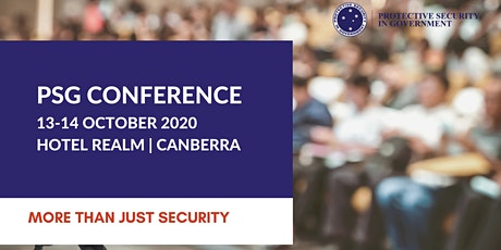 Protective Security in Government (PSG) Conference 2020 tickets