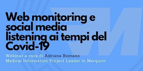 Web monitoring e social media listening ai tempi del Covid-19 biglietti