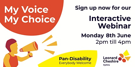 My Voice My Choice: Interactive Webinar  Session tickets