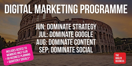Built To Last Dominate Marketing 4 Month Programme Summer 2020 tickets