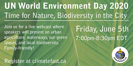 Time for Nature, Biodiversity in the City, World Environment Day tickets