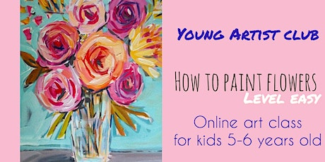 Young Artist Club - FREE Online Art Class for 5-6-year-olds tickets