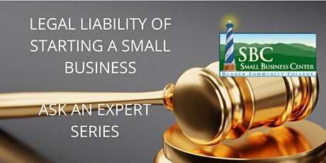 Legal Liability of Starting a Small Business tickets