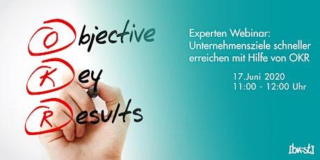 Experten-Webinar: Unternehmensziele schneller erreichen mit Hilfe von OKR Tickets