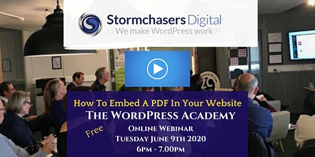 WordPress Academy June - How To Embed A PDF On Your Website tickets