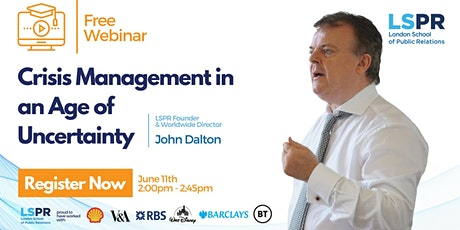 Crisis Management in an Age of Uncertainty tickets