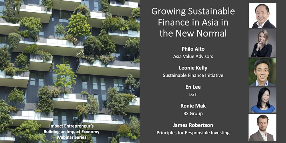 Growing Sustainable Finance in Asia in the New Normal