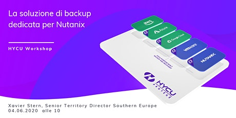 HYCU Workshop: la soluzione di backup dedicata per Nutanix biglietti