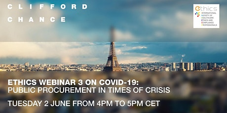 ETHICS WEBINAR  3 on Covid-19: Public Procurement in times of crisis tickets