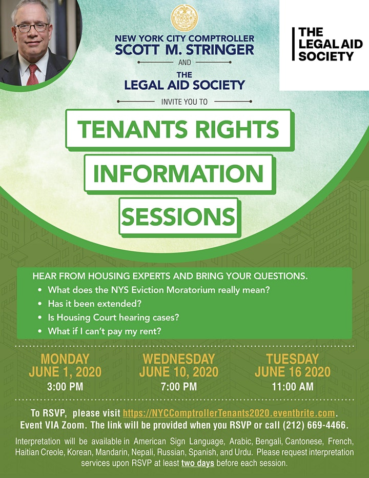 Tenants Rights Information Session - June 1 Session image