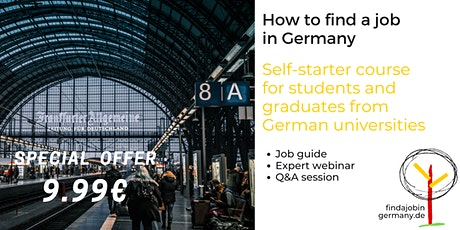 Online course: How to find a job in Germany... for graduates from German universities tickets