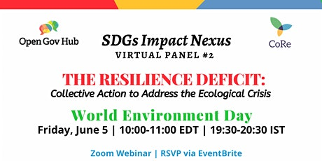 The Resilience Deficit: Collective Action to Address the Ecological Crisis tickets