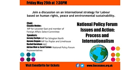 National Policy Forum: Issues and Process - Internationalism Tickets