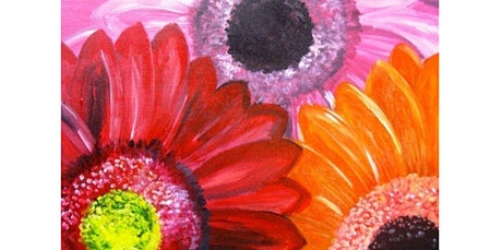 ONLINE Painting Class: Gorgeous Gerbera Daisies! (06-19-2020 starts at 6:00 PM) tickets