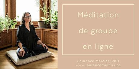 Méditation guidée en ligne avec Laurence:  4 séances au mois de juin billets