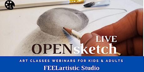 Open Sketch for Kids: Live Webinars of Art Classes. tickets