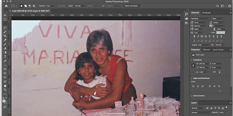 Photo Restoration using Adobe Photoshop tickets