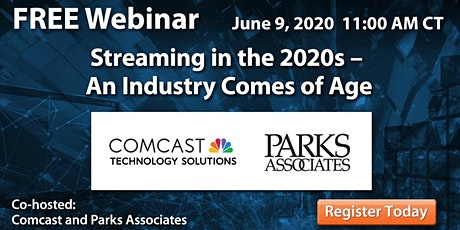 WEBINAR Streaming in the 2020s – An Industry Comes of Age tickets
