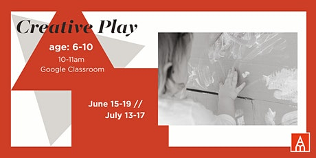 Creative Play Camp with Anastasia Munoz -- June tickets