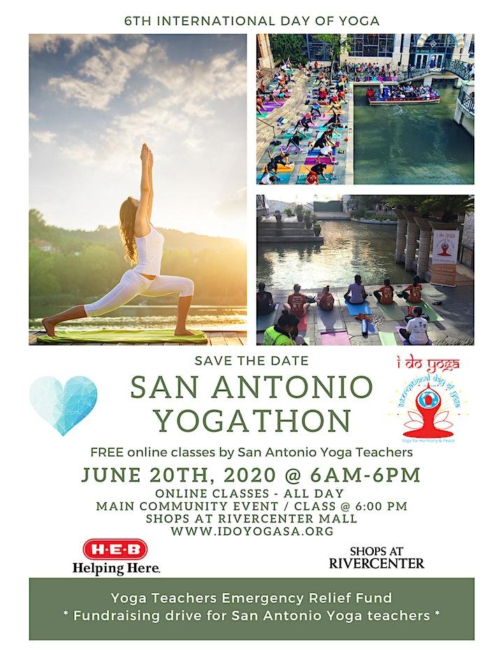 San Antonio YOGATHON: Online Yoga Classes (6am-6pm) image