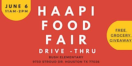 PRE-REGISTRATION LINK: HAAPI Food Fair Drive-Thru tickets